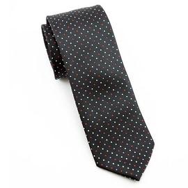 Black, White, Red Polka Dot Tie