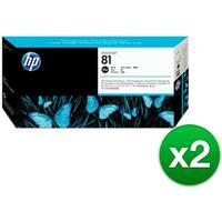 HP 81 Black DesignJet Dye Printhead & Printhead Cleaner (C4950A) (2-Pack)