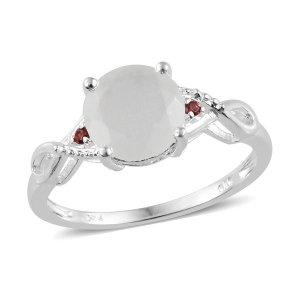 Sterling Silver Moonstone Cubic Zircon Statement Ring Ct 2.32. Opens flyout.