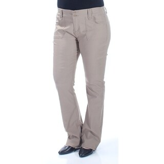 BEBOP $90 Womens New 1073 Beige Flare Casual Pants Juniors 15 B+B