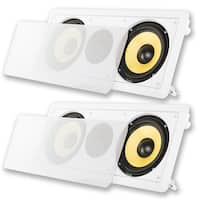 """Acoustic Audio HD-6c In-Wall 6.5"""" Center Channel Speakers In Ceiling 700W 2HD-6c"""