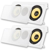"Acoustic Audio HD6c In-Wall Dual 6.5"" Speakers Home Theater 2 Speaker Set"