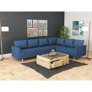 Link to Modern Metal Frame Upholstered Sectional Sofa Similar Items in Living Room Furniture