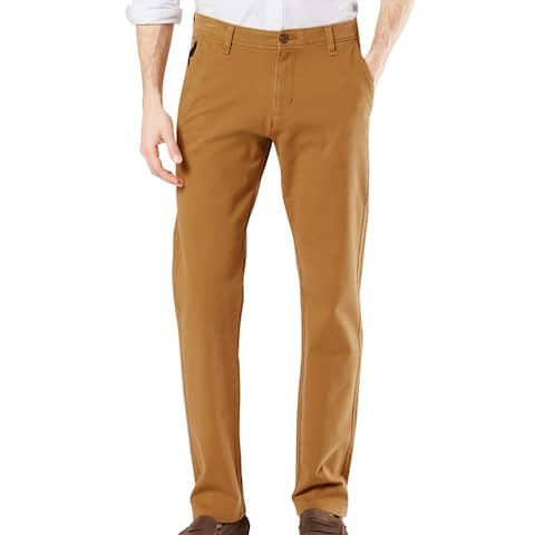 Dockers Mens Ultimate Chino Pant Brown Size 52x30 Big & Tall Tapered Fit