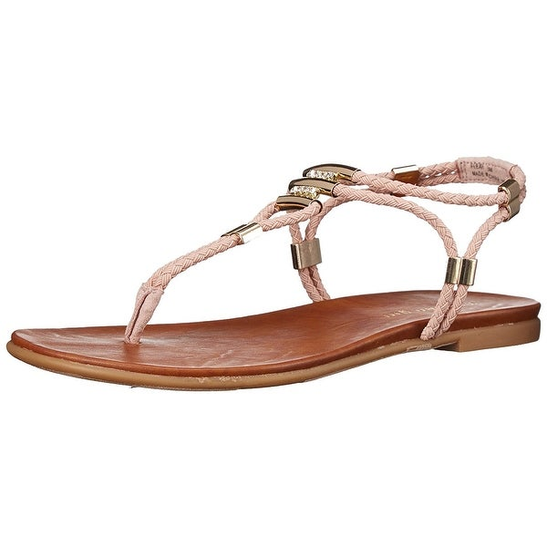 Madden Girl Womens Flexil Split Toe Casual T-Strap Sandals