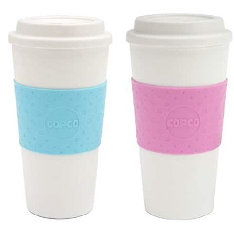Copco Acadia Insulated Travel Mug BPA Free 16 Oz Pack Of 2 - Azure Blue Bubble Gum - Azure Blue / Bubble Gum