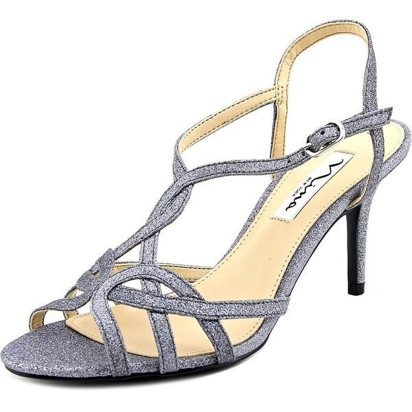 Nina Vencie Women Open Toe Synthetic Silver Sandals
