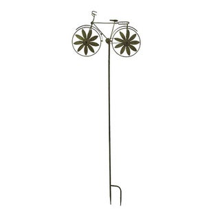 Retro Metal Bicycle Wind Spinner Garden Stake