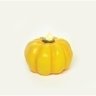 "2.5"" LED Lighted Harvest Halloween Thanksgiving Yellow Pumpkin Decoration"