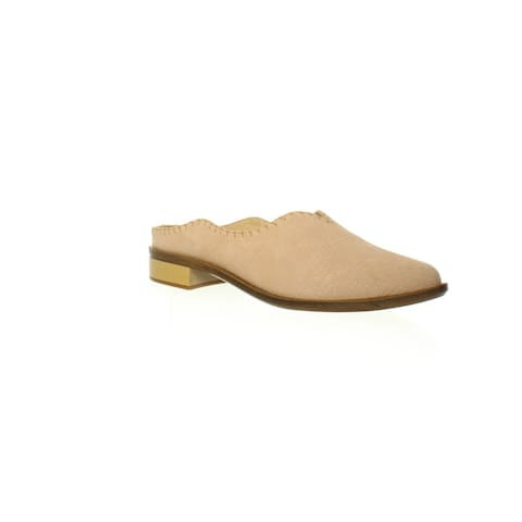 Kelsi Dagger Womens Adlyln Bisque Mules Size 5.5