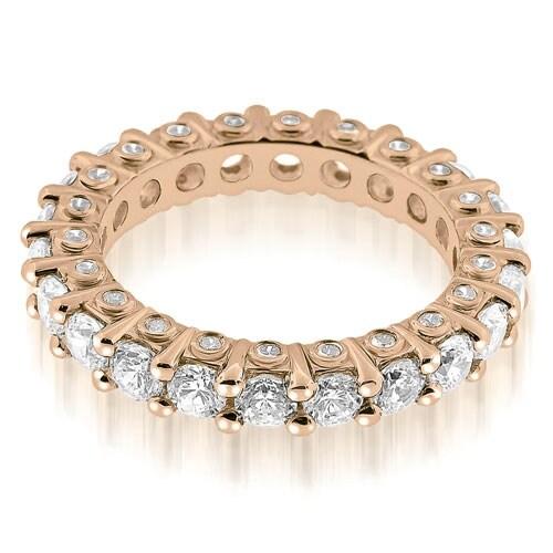 2.64 cttw. 14K Rose Gold Stylish Round Cut Diamond Eternity Band Ring