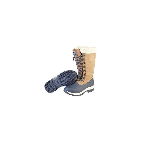 Muck Boots Otter/Navy Women's Arctic Apres Lace Tall Boot - Size 10