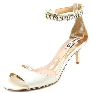 Badgley Mischka Angel Women  Open Toe Canvas Ivory Sandals