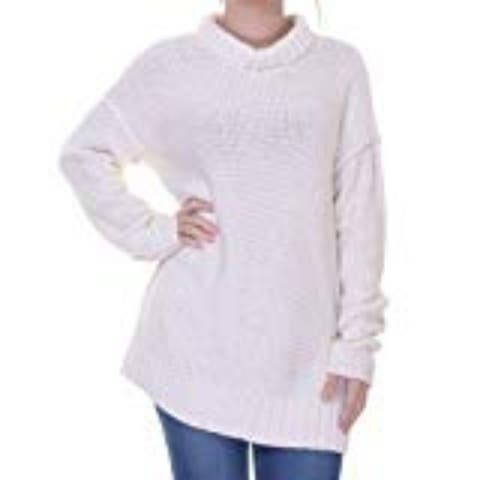 Lauren Ralph Lauren Women's Knit Long Sleeves Pullover Sweater, Pearl, XL