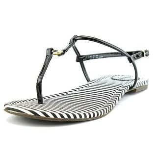 Sebago Josslyn Open Toe Patent Leather Thong Sandal