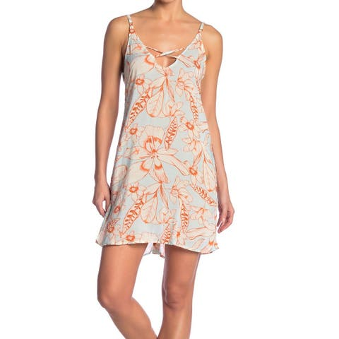 Maaji Blue Womens Size Medium M Floral Cover-Up Dress Swimwear