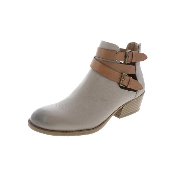 Kenneth Cole Reaction Womens Raw Lucky Booties Leather Stacked - 7 Medium  (B 3ec445b169