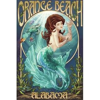 Orange Beach, AL - Mermaid - LP Artwork (100% Cotton Tote Bag - Reusable)