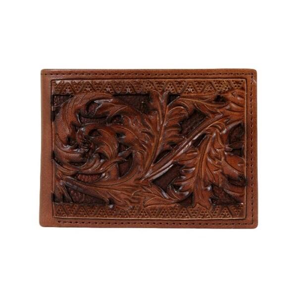 "HOOey Western Wallet Mens Sienna Signature Bifold Brown - 4 1/2"" x 3/4"" x 3 1/2"""