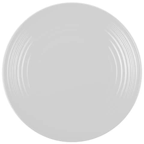 Melange 36-Piece Melamine Salad Plate Set (Solids Collection )