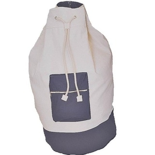 "Homebasix C2F8649000 Cotton Laundry Bag With Strap, 15"" x 29"""