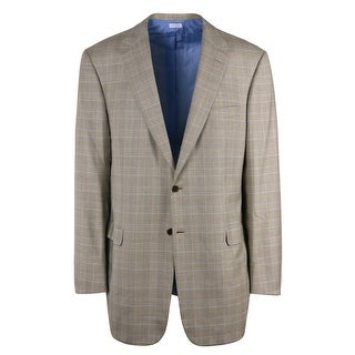 Brioni Men Brown Checkered Wool Textured Secolo Sportcoat - 44 r