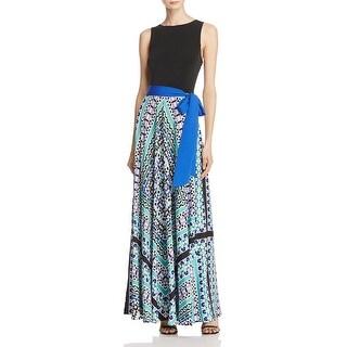 Eliza J Womens Maxi Dress Printed Skirt Sleeveless