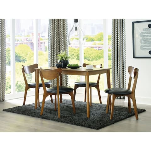 Parrenfield Brown/Black Dining Room Table with 4 Dining Chairs, Set of 5