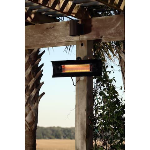 Fire Sense 60460 Mojave Sun Black Steel Wall Mounted Infrared Patio Heater - Black Steel