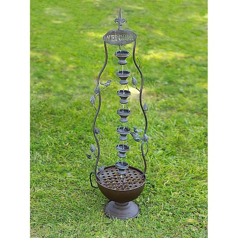 Alpine Corporation Hanging 7-Cup Tiered Floor Fountain
