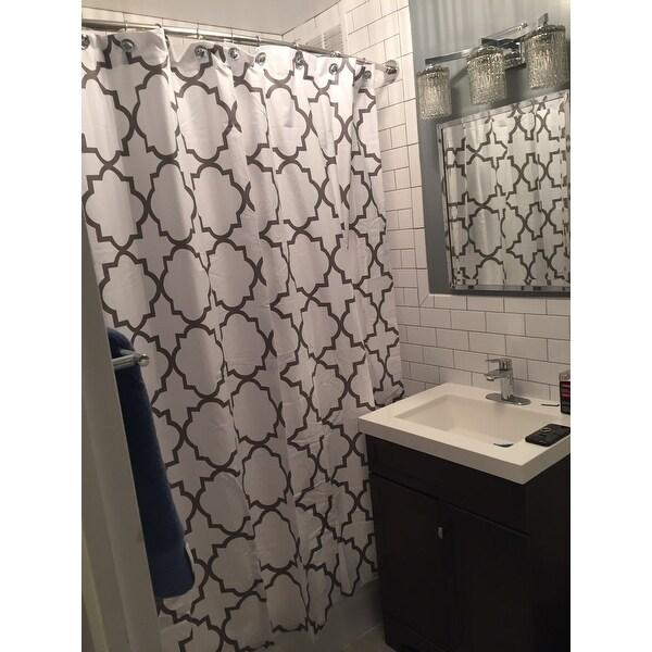 Shop Echelon Home Quatrefoil Shower Curtain