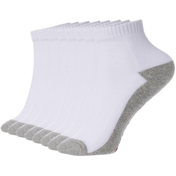 Alpine Swiss Mens 8 Pack Cotton Ankle Socks Athletic Performance Cushioned Socks Shoe Size 6-12 - One Size