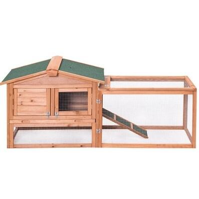 Wooden//Metal Chicken Coop Rabbit Hutch Pet Hen House Cage Run Poultry Backyard