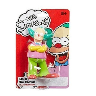 The Simpsons 4 Inch Krusty The Clown Collectible Figure by Character Options - Multi-Colored