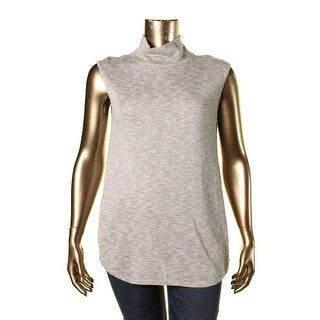 Nic + Zoe Womens Heathered Cap Sleeves Pullover Sweater