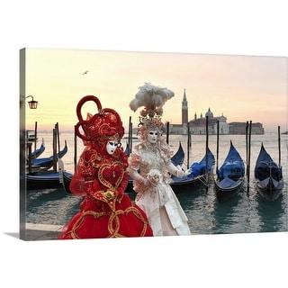 """Venetian Carnival Masks"" Canvas Wall Art"