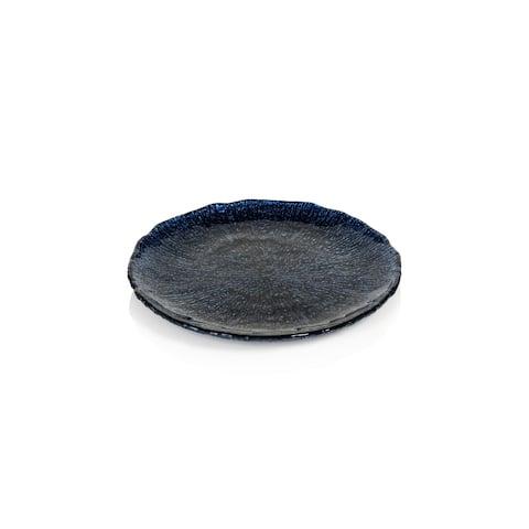 """Exuma 8.5"""" Cobalt Blue Glass Plates, Set of 6"""
