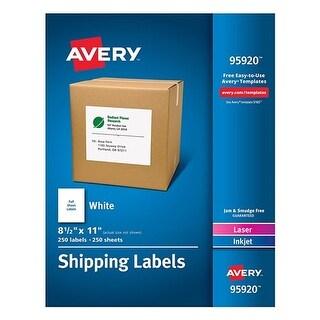 Avery Full-Sheet White Shipping Labels Full-Sheet White Shipping Labels, Inkjet/Laser