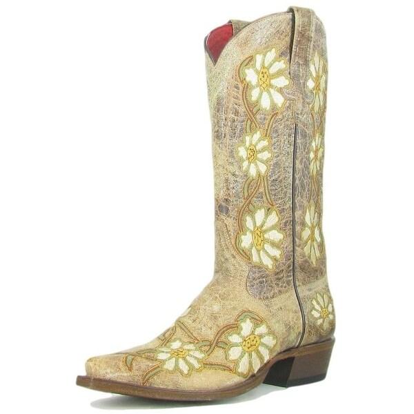 Macie Bean Western Boots Womens Cowboy Daisy Margaritas Natural