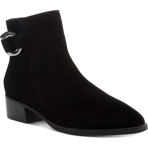 Steven By Steve Madden Womens Ringer Ankle Boots Suede Water Resistant
