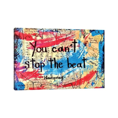 """iCanvas """"You Can't Stop The Beat From Hairspray"""" by Elexa Bancroft Canvas Print"""