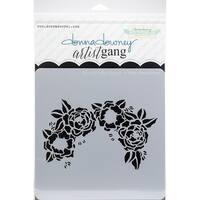 """Donna Downey Artist Gang Stencils 8""""X8""""-Floral Headdress"""