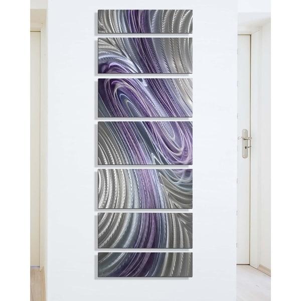 Statements2000 Abstract Metal Wall Art Painting Decor by Jon Allen Purple Array