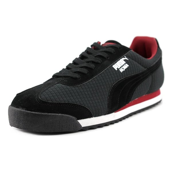 Puma Roma Quilted Men Round Toe Synthetic Black Sneakers