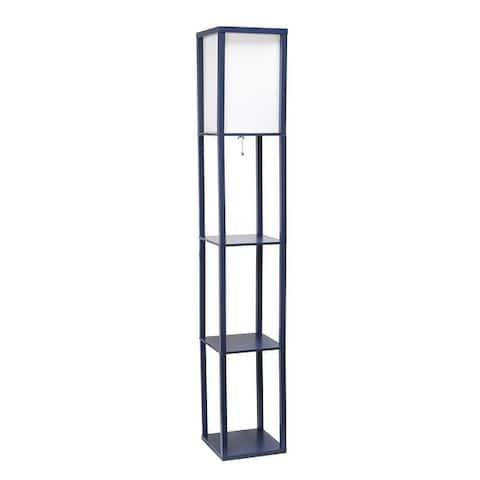 Simple Designs Floor Lamp Etagere Organizer Storage Shelf