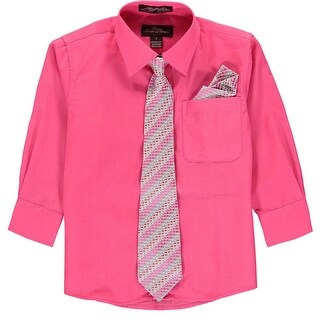 Alberto Danelli Boys 4-7 Dress Shirt and Tie - Pink