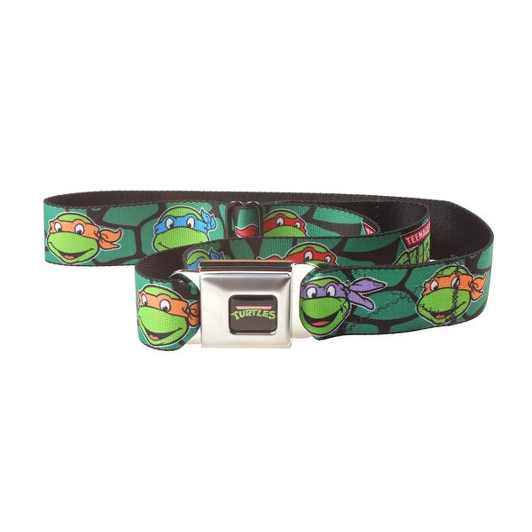 Teenage Mutant Ninja Turtles Shell Faces Seatbelt Belt-Holds Pants Up