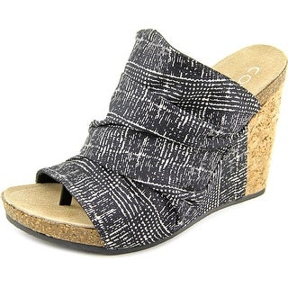 Coconuts By Matisse Tower Women Open Toe Canvas Wedge Heel