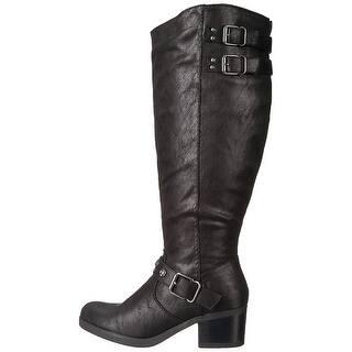 25370c6707b Carlos by Carlos Santana Womens Cara Fabric Closed Toe Mid-Calf Fashion  Boots