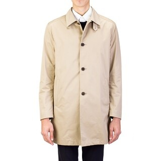 Prada Men's Waterproof Aviation Trench Coat Cloak Jacket Khaki